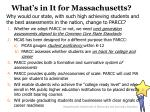 what s in it for massachusetts