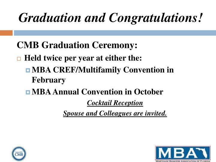 Graduation and Congratulations!
