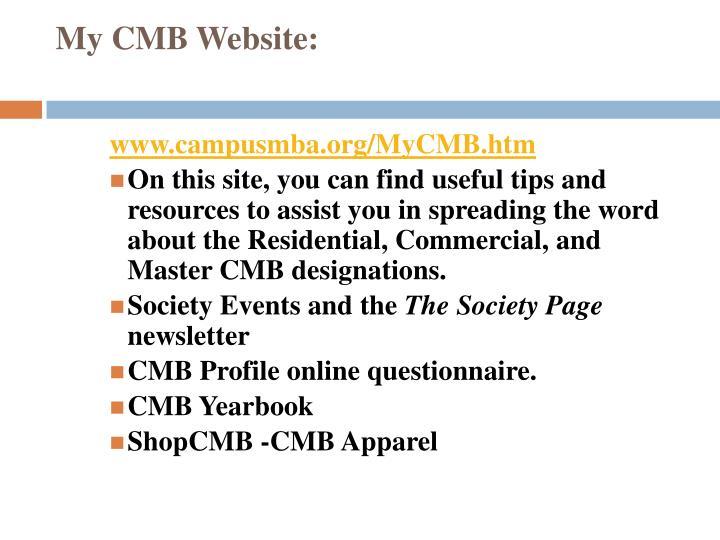 My CMB Website: