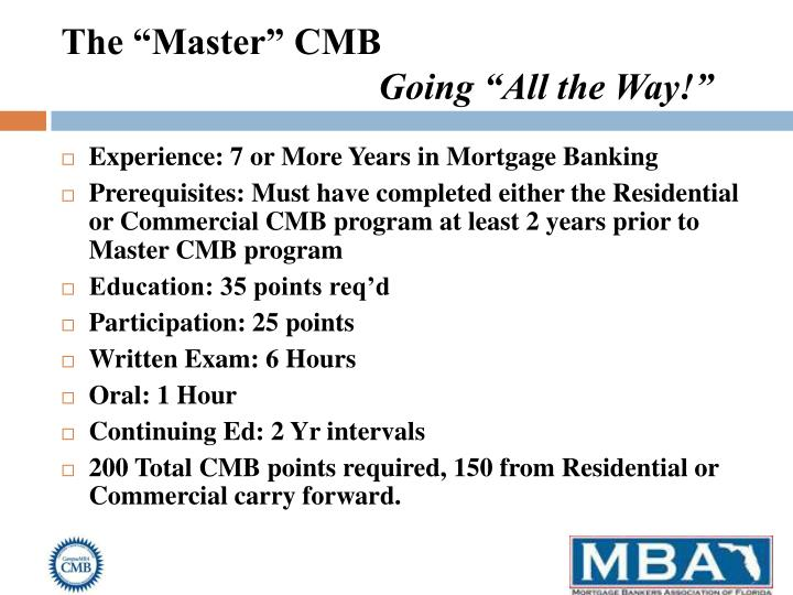 """The """"Master"""" CMB"""