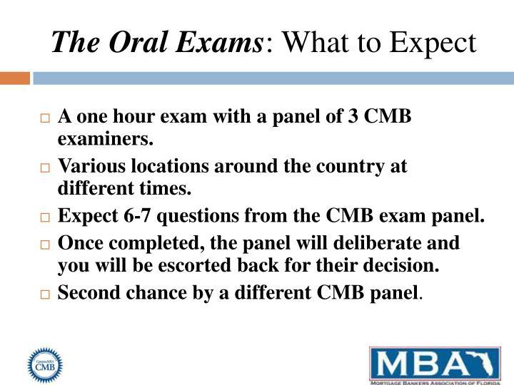 The Oral Exams