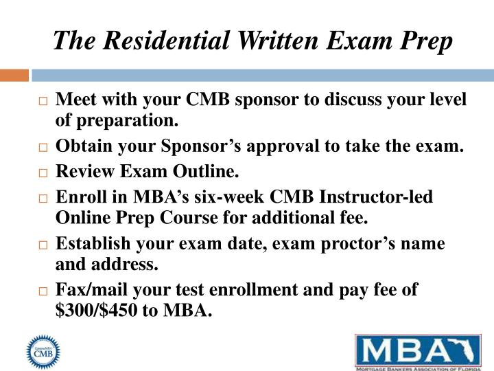 The Residential Written Exam Prep
