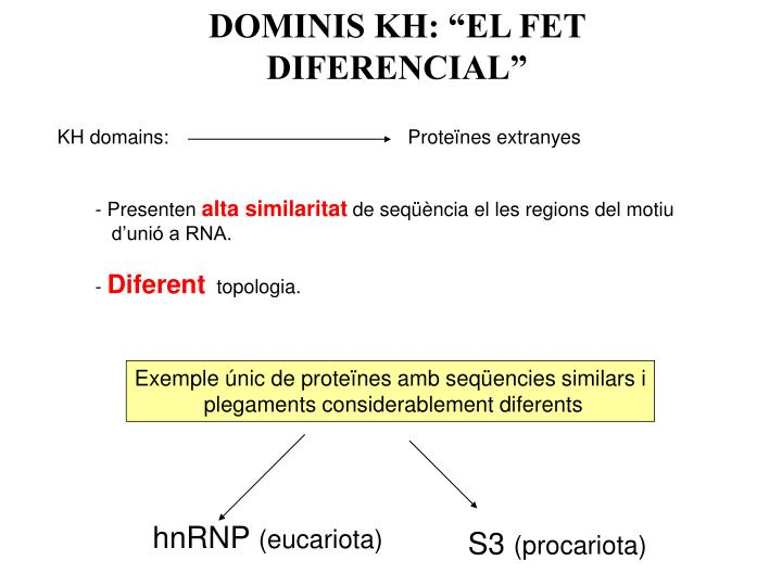 """DOMINIS KH: """"EL FET DIFERENCIAL"""""""