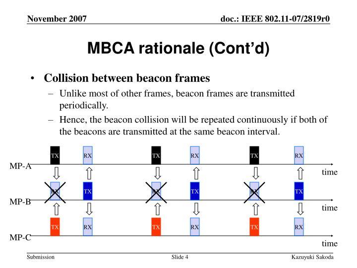 MBCA rationale (Cont'd)