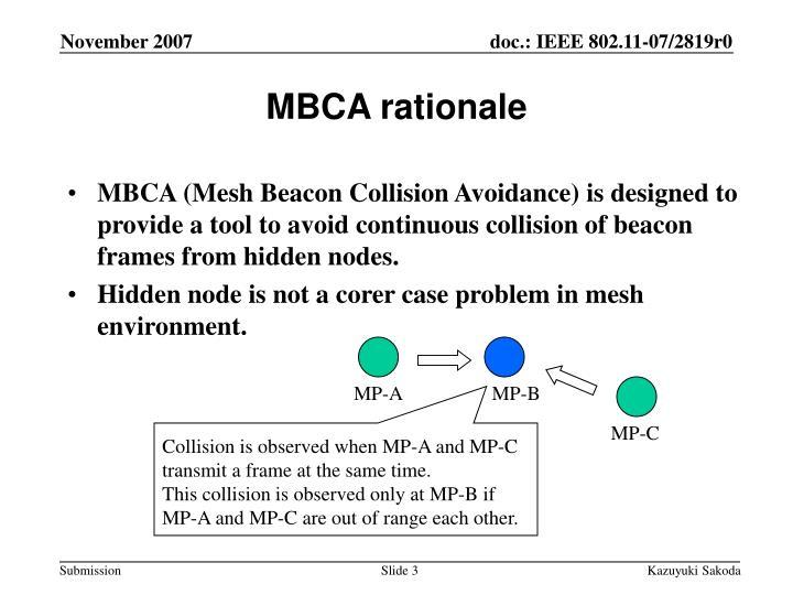 Mbca rationale