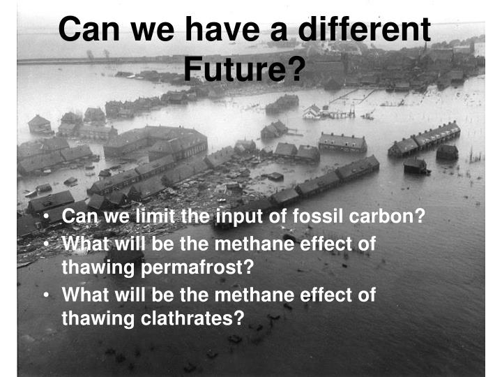 Can we have a different Future?