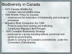 biodiversity in canada