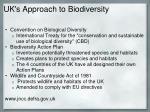 uk s approach to biodiversity