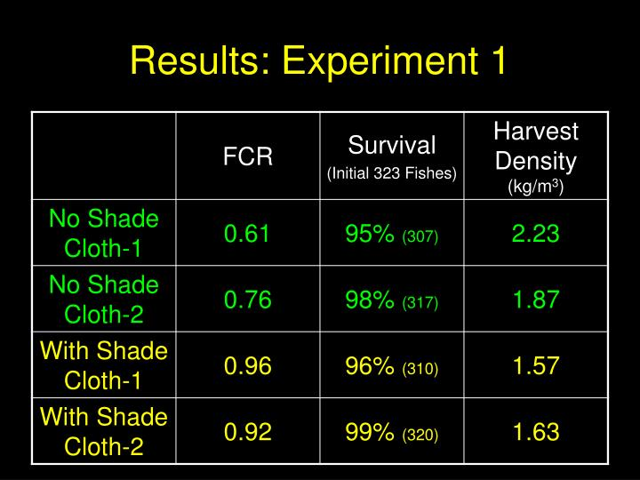 Results: Experiment 1