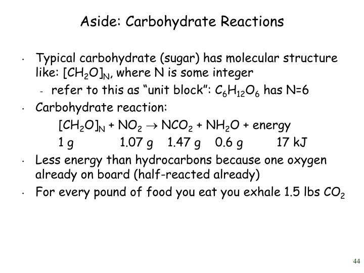 Aside: Carbohydrate Reactions