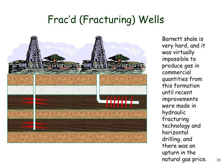 Frac'd (Fracturing) Wells