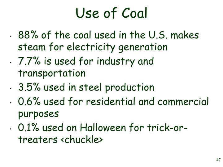 Use of Coal