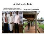activities in buta