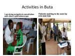 activities in buta1