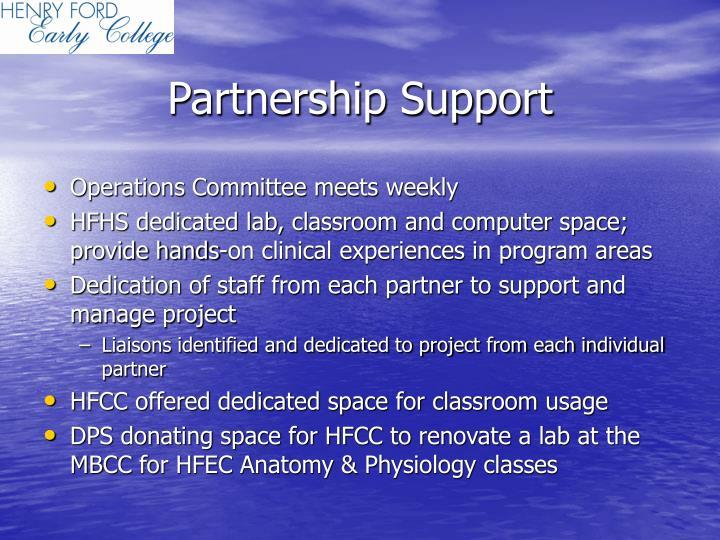 Partnership Support