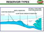 reservoir types