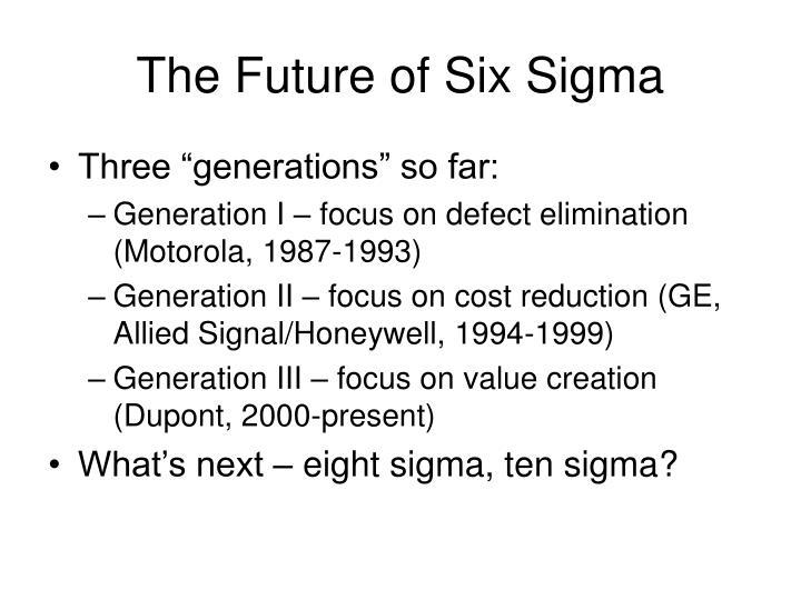 The Future of Six Sigma