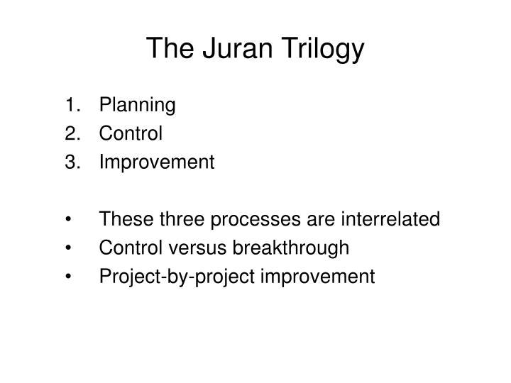 The Juran Trilogy