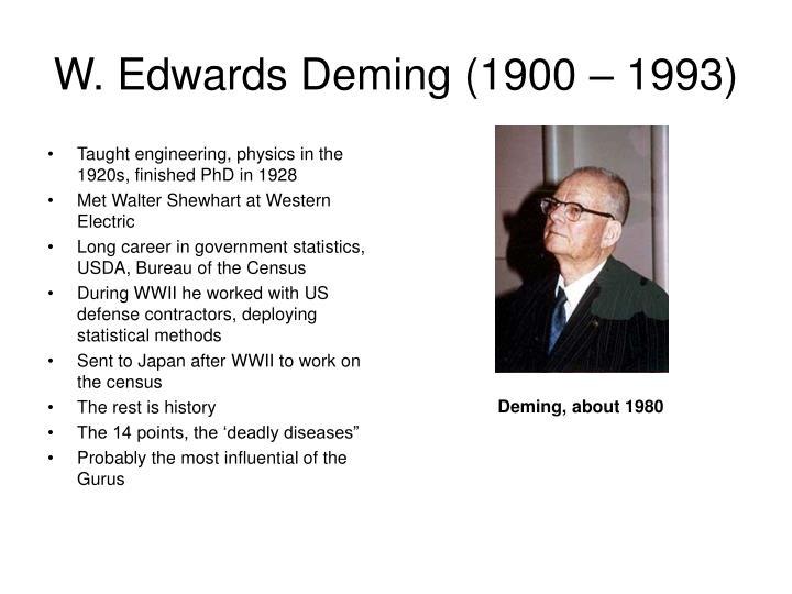 W. Edwards Deming (1900 – 1993)