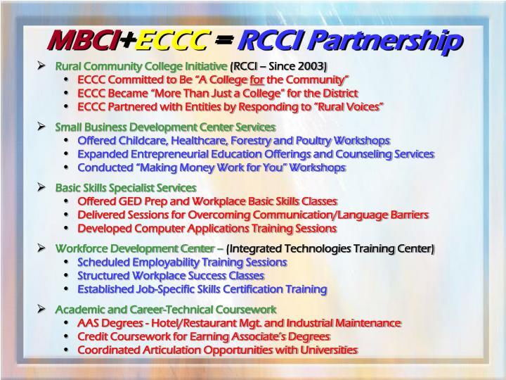 Rural Community College Initiative