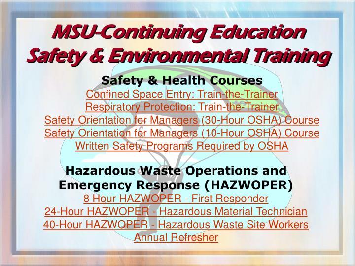 MSU-Continuing Education