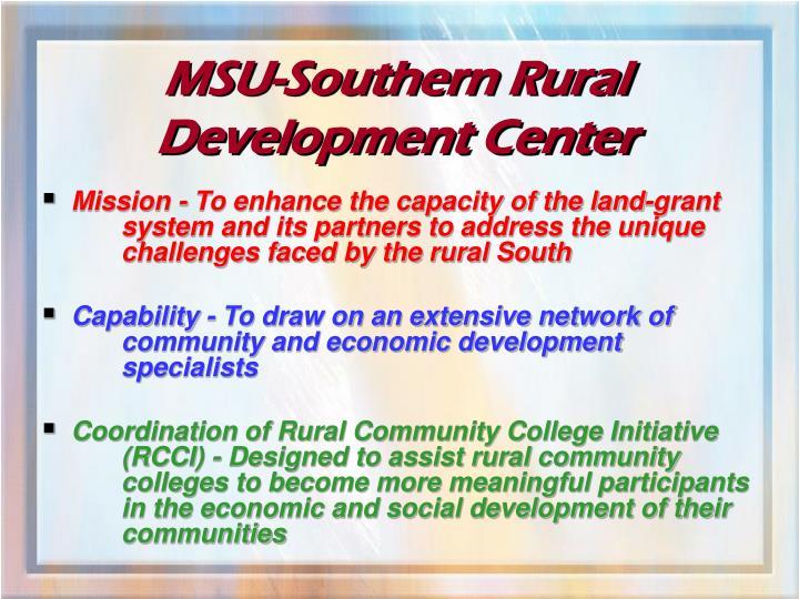 MSU-Southern Rural