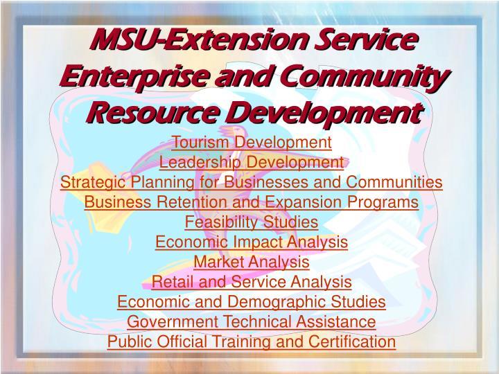 MSU-Extension Service