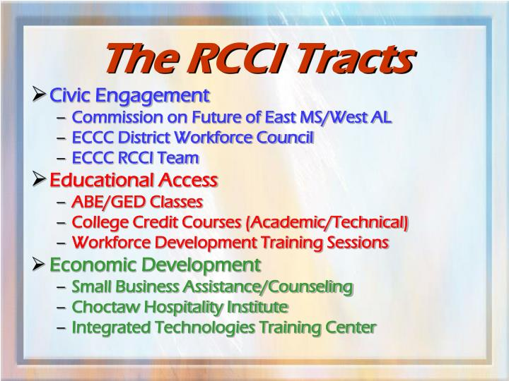 The RCCI Tracts