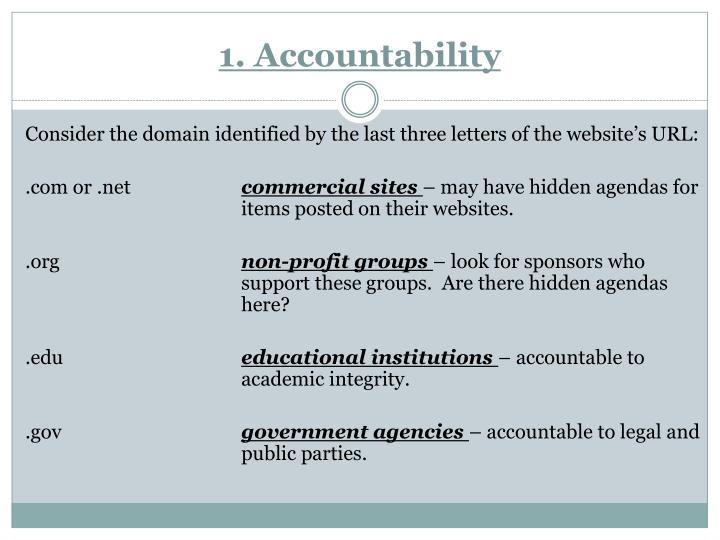1. Accountability
