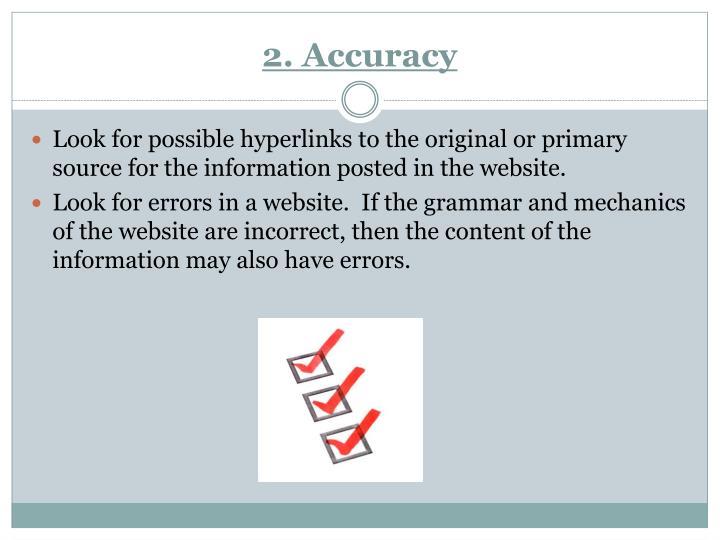 2. Accuracy
