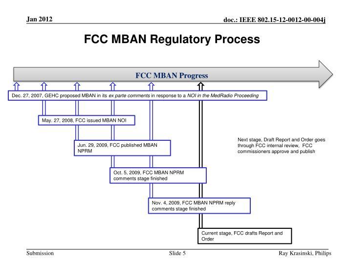 FCC MBAN Regulatory Process