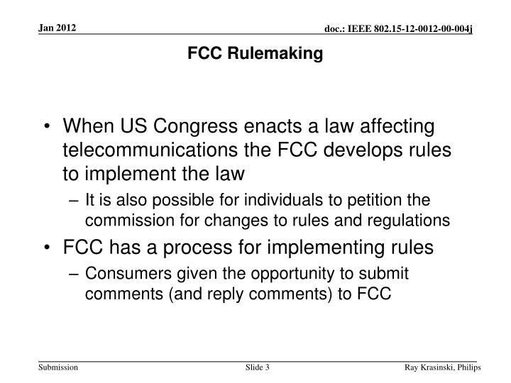 Fcc rulemaking
