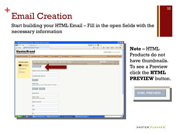 Email Creation
