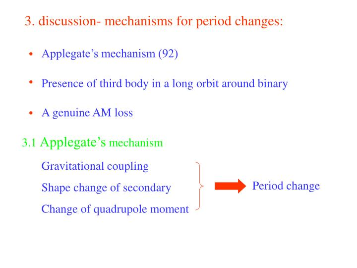 3. discussion- mechanisms for period changes: