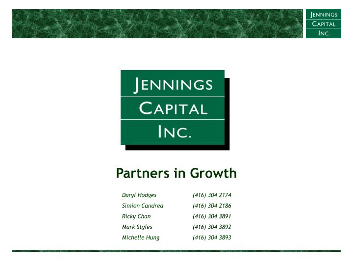 Partners in Growth