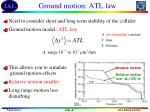 ground motion atl law