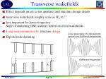 transverse wakefields