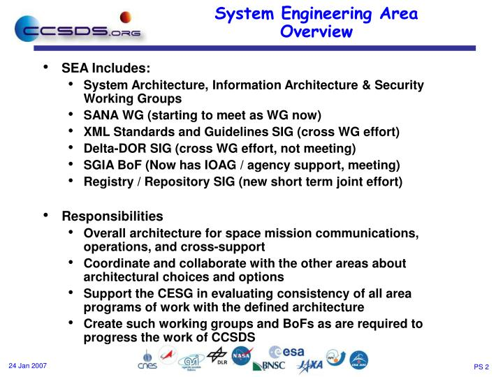 System engineering area overview