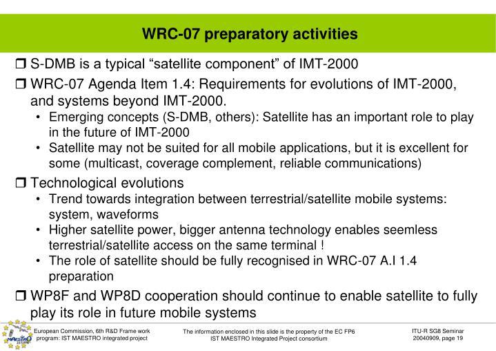 WRC-07 preparatory activities