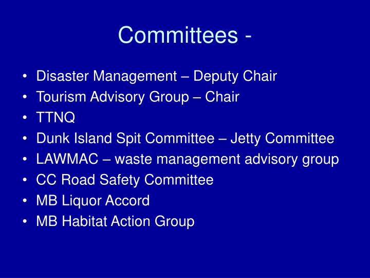Committees -