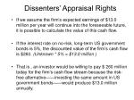 dissenters appraisal rights11