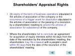 shareholders appraisal rights1