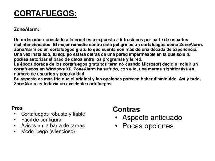 CORTAFUEGOS:
