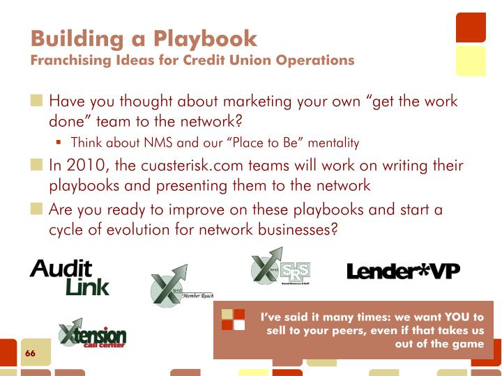 Building a Playbook