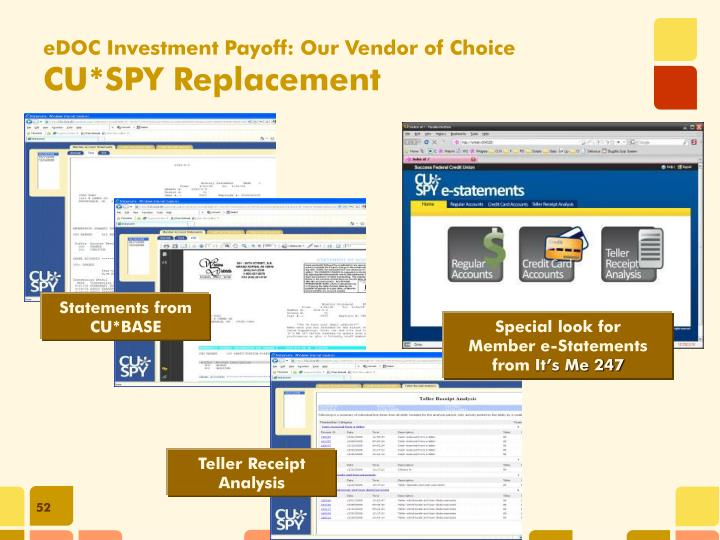 eDOC Investment Payoff: Our Vendor of Choice