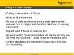 coding in a small company