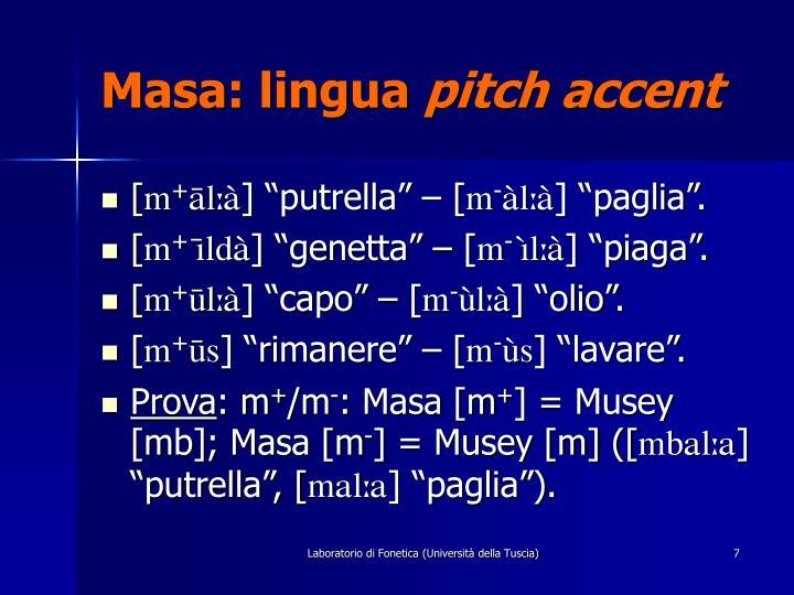 Masa: lingua