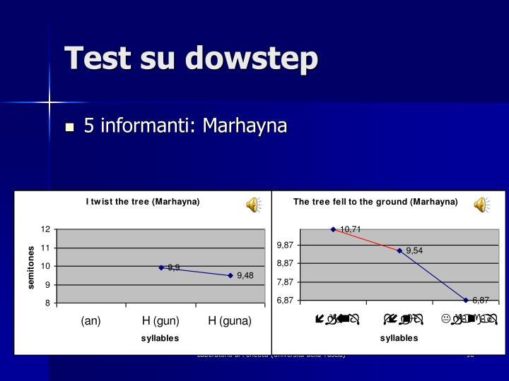 Test su dowstep