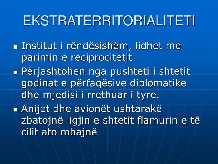 EKSTRATERRITORIALITETI
