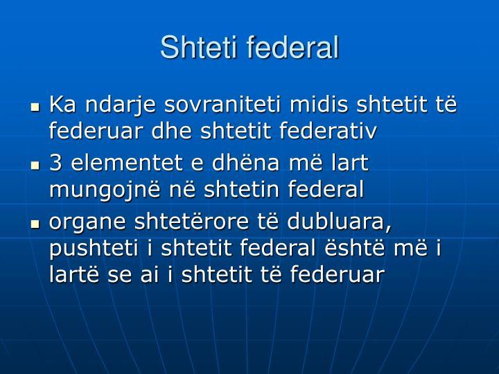 Shteti federal